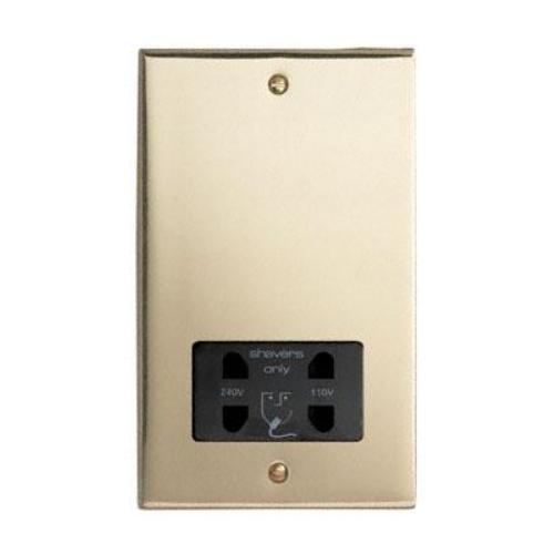 Contactum 3300EBB 110/230v Edwardian Brass Shaver Socket