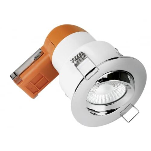 Aurora Enlite EN-DE62PROPC/30 LED Dimmable 6w IP20 Fire Rated Tilt Downlight 3k Polished Chrome Bezel