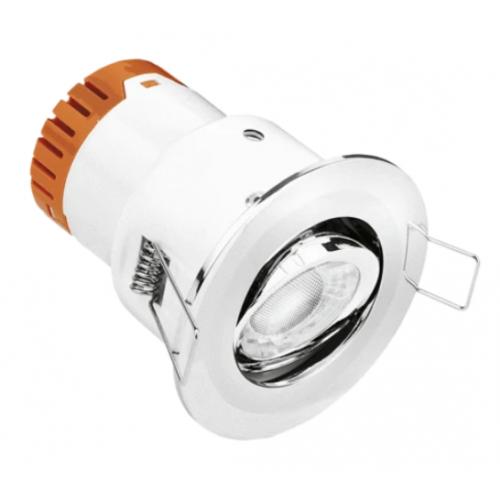 Aurora Enlite EN-DE52PC/30 4.5 Watt 3k Polished Chrome LED Fire Rated Tilt