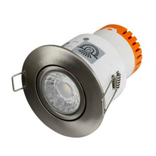 Aurora Enlite EN-DE52SN/40 4.5 Watt 4k Satin Nickel LED Fire Rated Tilt