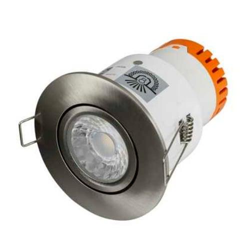 Aurora Enlite EN-DE52SN/30 4.5 Watt 3k Satin Nickel LED Fire Rated Tilt