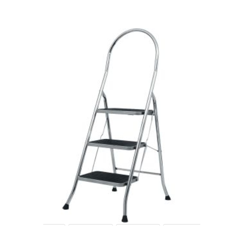 ABRU Werner 22043 3 Tread Stepstool Chrome Finish Steps
