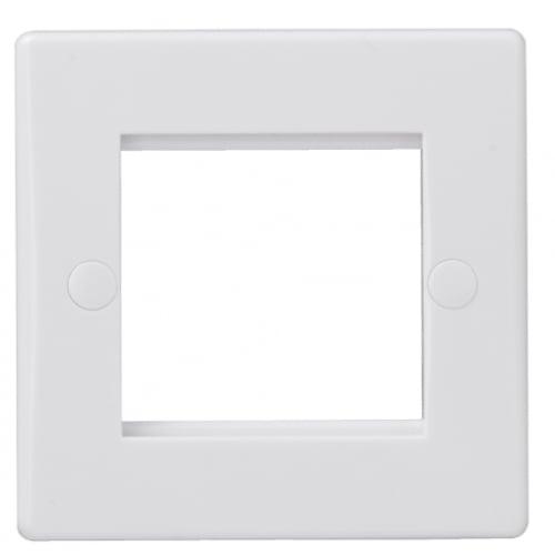 Schneider Get GU8060 1 Gang 2 Module White Euro Plate