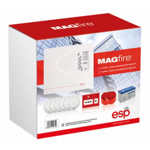 ESP FLK2P MAG2P Fire Alarm Kit 2 Zone+Accessories