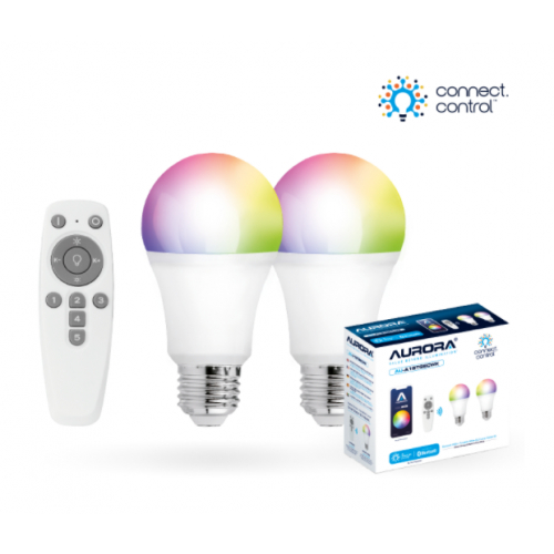 Aurora AU-A1BTGECWK AOne Bluetooth Connect Control Kit with 2x8w ES GLS lamp and remote control