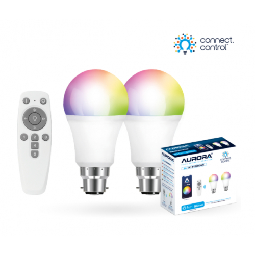 Aurora AU-A1BTGBCWK AOne Bluetooth Connect Control Kit with 2x8w BC GLS lamps and remote control