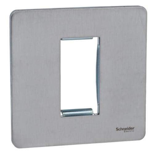 Schneider Get GU8450SS 1 Gang 1 Module Euro Plate stainless steel