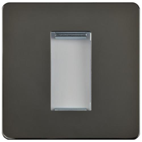 Schneider Get GU8450BN 1 Gang 1 Module Euro Plate Black Nickel