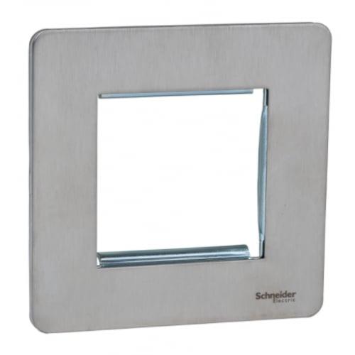 Schneider Get GU8460SS 1 Gang 2 Module Euro Plate stainless steel