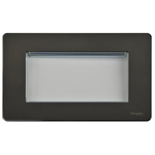 Schneider Get GU8480BN 2 Gang 4 Module Euro Plate Black Nickel