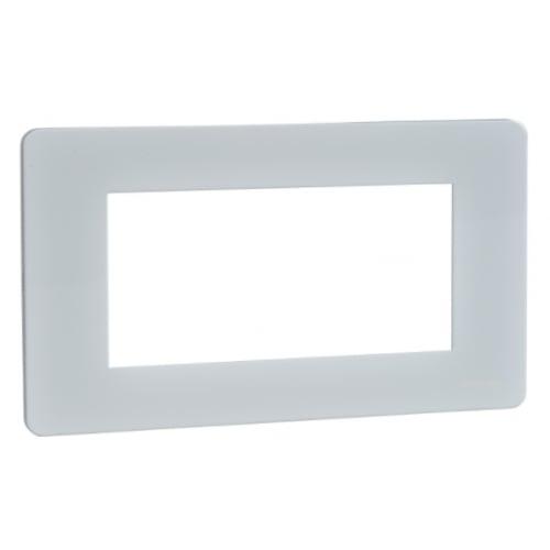 Schneider Get GU8480PW 2 Gang 4 Module Euro Plate White