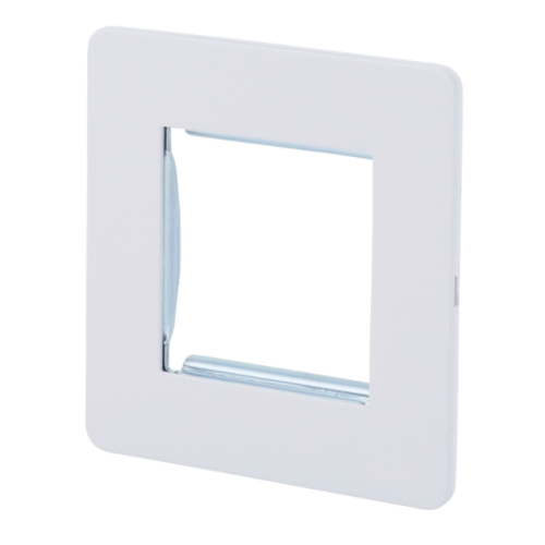 Schneider Get GU8460PW 1 Gang 2 Module Euro Plate White