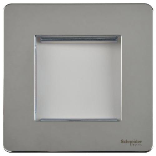 Schneider Get GU8460PC 1 Gang 2 Module Euro Plate Polished Chrome