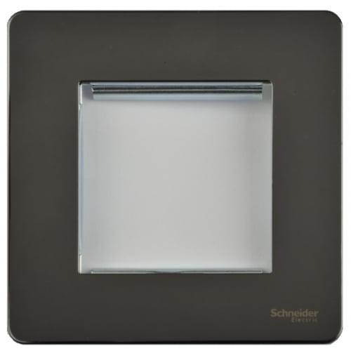 Schneider Get GU8460BN 1 Gang 2 Module Euro Plate Black Nickel