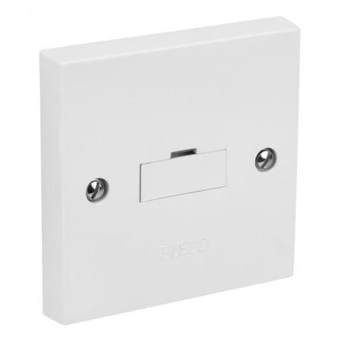 CED SP 13a Fused connection unit, side flex outlet White