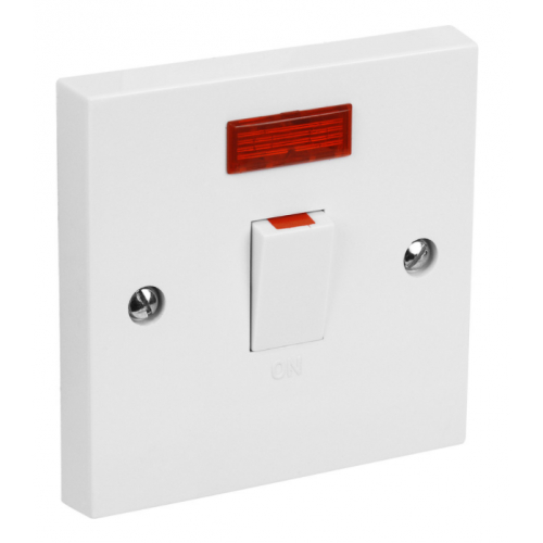 CED DP20N 20amp DP white switch with flex outlet & neon white DS20N