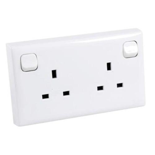 CED CS1-2 2g 13a switch socket for 1g flush box