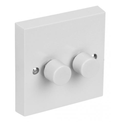 CED DP400/22W 2gang 2way 400w push dimmer switch white