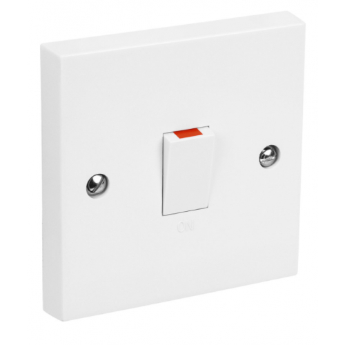 CED DP20 20amp DP white switch with flex outlet white DS20