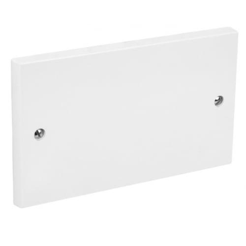 CED BP2 2 gang white blank cover plate