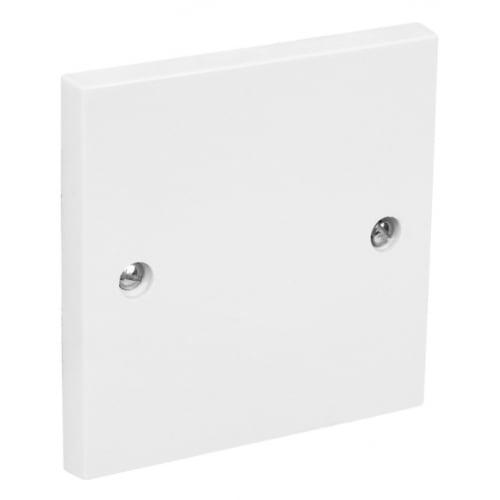 CED BP1 1 gang white blank cover plate