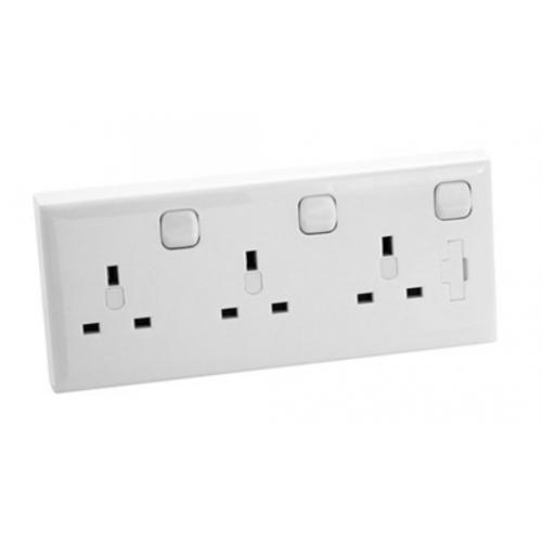 CED CS1-3 3g 13a switch socket for 1gang or 2gang flush box