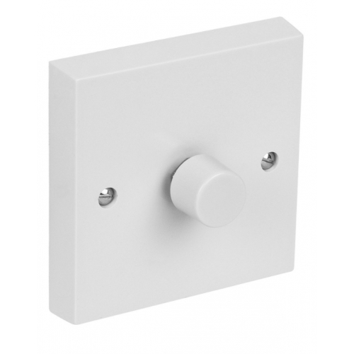 CED DP1000/12W 1gang 2way 1000w Push Dimmer White Square