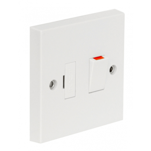 CED Axiom SPS 13a Fused Switched connection unit with side flex outlet White
