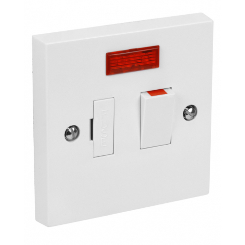 CED SPSN 13a Fused Switched connection unit with neon side flex outlet