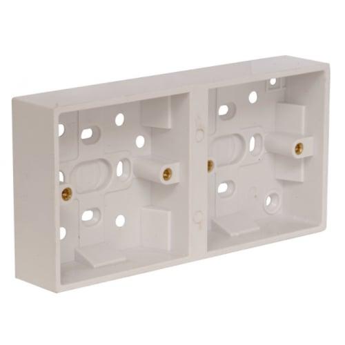 CED PB322D 2gang (2x1gang) 32mm plastic dual mounting box
