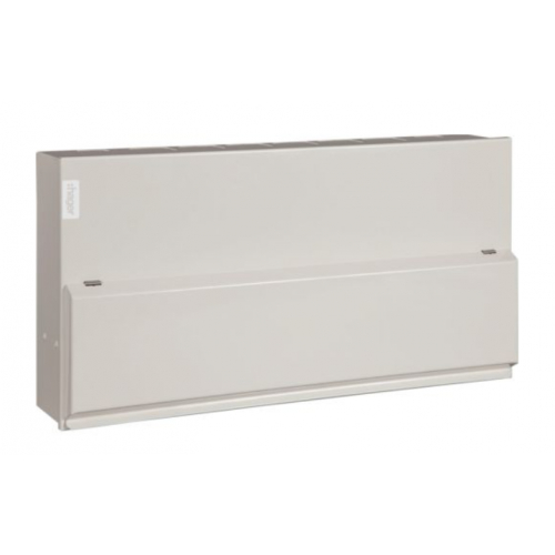 Hager VML914CUSPDRK 14 Way Hi-Integrity Consumer Unit with Type 2 Surge Protection and round knockouts