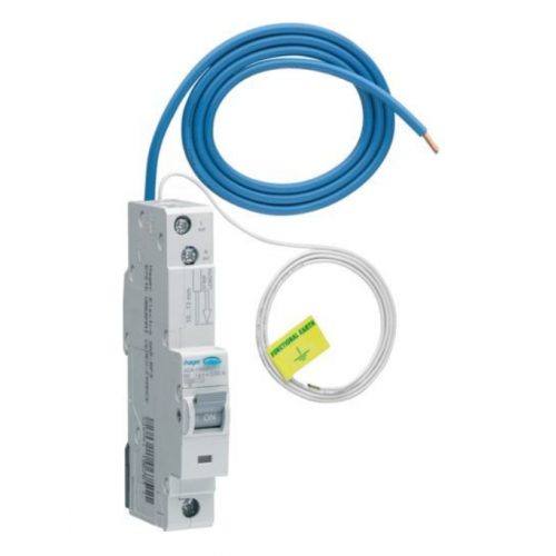 Hager ADA140G 40a 30ma B Curve RCBO Type A(AC and Pulsating DC Sensitive)