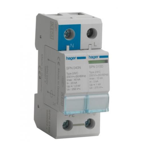 Hager VM02SPD CU Surge Protection Kit T2 SPD