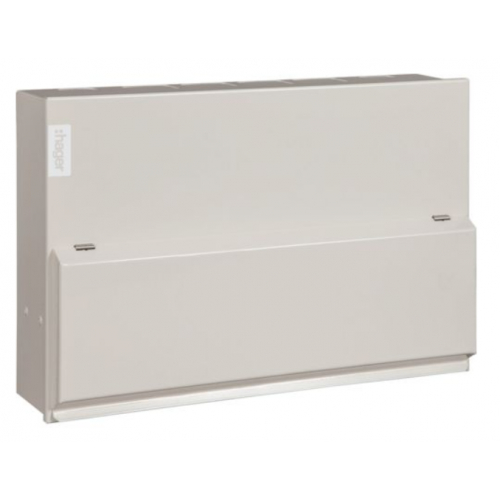 Hager VML910CUSPDRK 10 Way Hi-Integrity Consumer Unit with Type 2 Surge Protection (Round Knockouts)