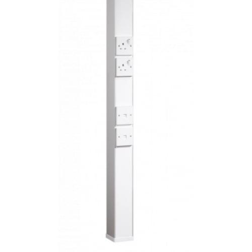 Marco MTP1W 3.6 Metre White power pole & 6 Boxes