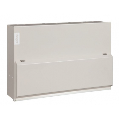 Hager VML108SPDRK 8 Way 100a Main Switch Consumer Unit with Type 2 Surge Protection Device(SPD) with round knockouts