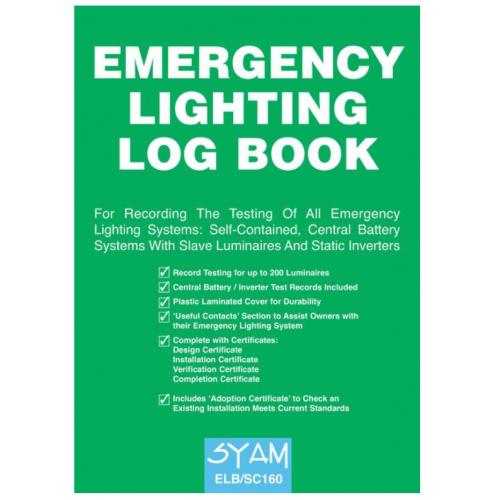 Syam ELB/SC160 Emergency Lighting log book