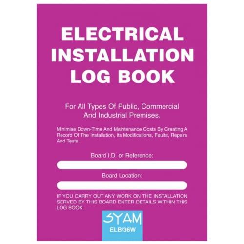 Syam ELB/36W Electrical Instalation log book