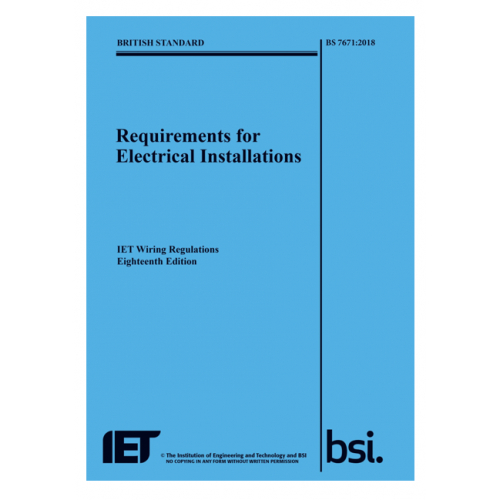 IET Official 18th 2018 Edition Wiring Regulations book