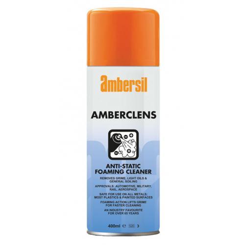 Ambersil 31592 Amberclens Anti-Static Foam Cleaner 400ml aerosol