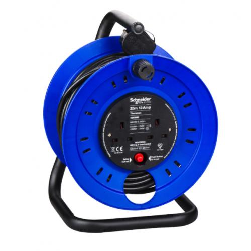 Schneider 4510096 50m 2x13a 240v sockets Extension Reel