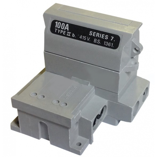 Henley 54138-12 Grey SP&N 100amp Household Cut Out (Less Fuse)
