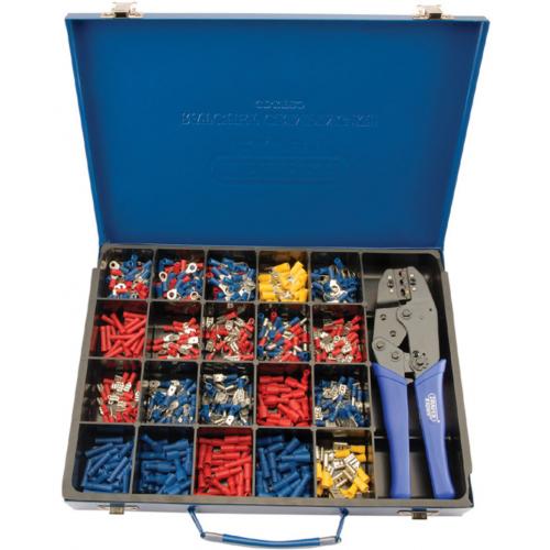 Draper 56383 Ratchet Crimping Kit with 590 Crimps & Case