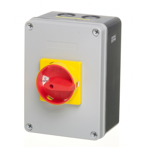 ECL LB634P 63amp 4 pole IP65 surface rotary switch  (Padlockable)