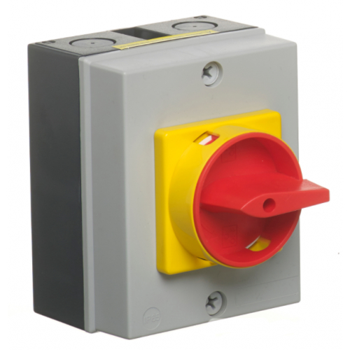 ECL LB254P 25amp 4 pole IP65 Surface Rotary Switch Padlockable