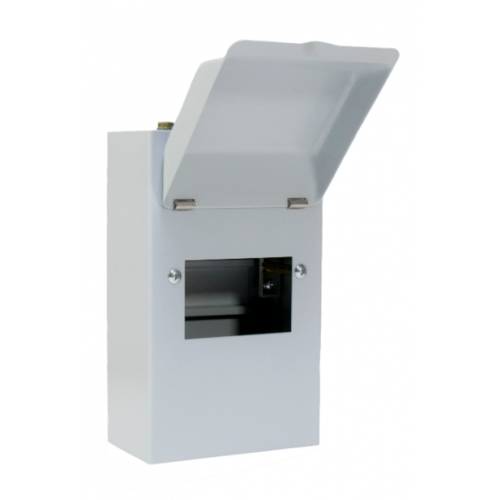 ECL MEC4M 4 Way Metal Enclosure with Metal Hinged Cover