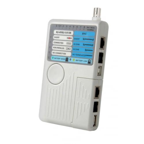 AVSL 4in1 cable tester UTP/STP LAN,USB,BNC,RJ11(2-6 Conductors)