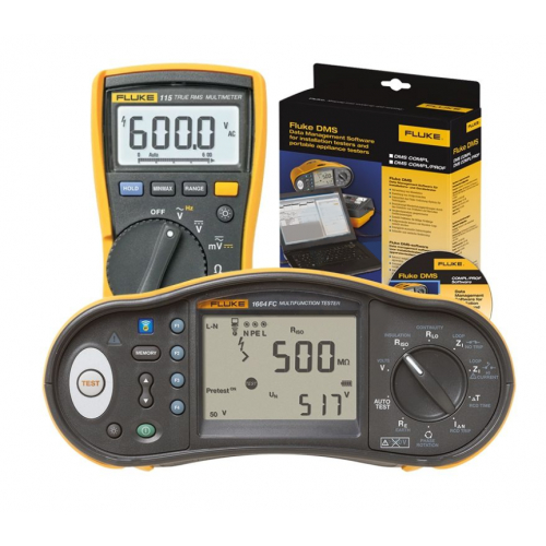 Fluke 1664 UK-DMM KIT Multi Installation Tester + Free 115 Digital Multimeter & Software