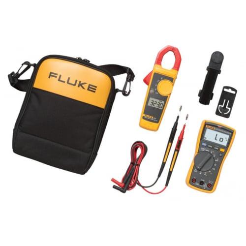 Fluke 117/323EUR Electricians Combo Kit Multimeter+Clamp Meter+Case