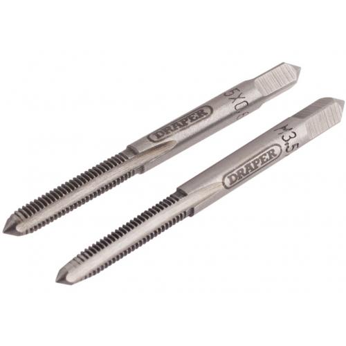 Draper 18075 2 x Coarse hand taps, M3.5 Taper & Plug